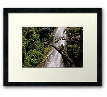 thunder creek falls Framed Print