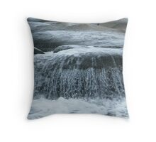 salty waterfall Throw Pillow