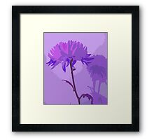 Lavender Purple Violet Flower and Shadow Abstract Design Framed Print