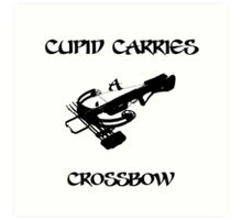 Cupid Carries A Crossbow Art Print