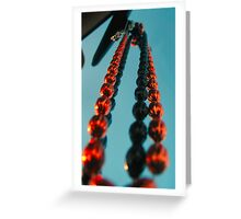 Hanging beads Greeting Card