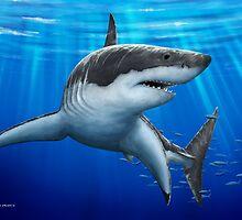 Blue Predator (Great White Shark) by David Pearce