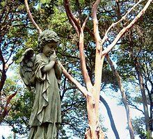 Statue in St. Augustine, FL Cemetery by Matt Ferrell