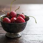Dewy Cherries by Colleen Farrell