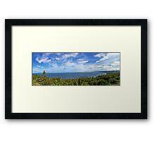 Wide Open Blue Framed Print