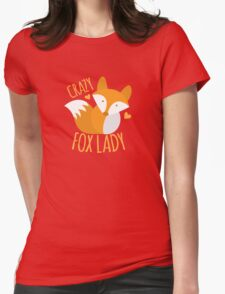 Crazy Fox lady T-Shirt