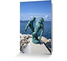 Bronzed Fishermen, Bol Greeting Card