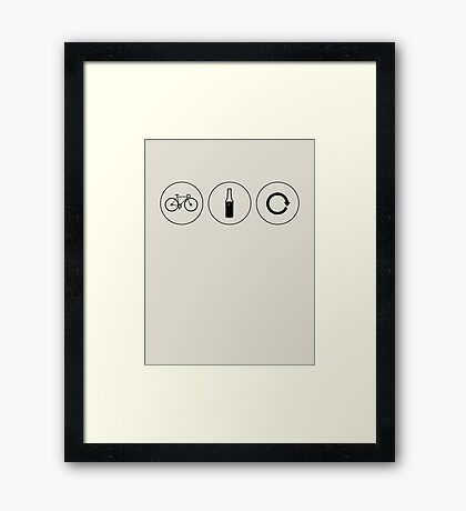 Ride. Relax. Repeat. (Black) Framed Print