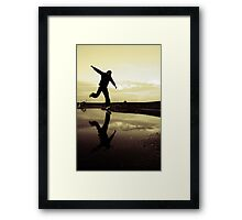 Another decisive moment Framed Print