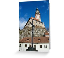 Round Tower, Cesky Krumlov Greeting Card