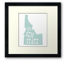Idaho State Motto Slogan Framed Print