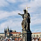 Charles Bridge Statue, Prague by Leigh Penfold