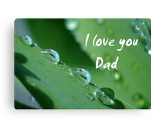 """I love you Dad"" Canvas Print"