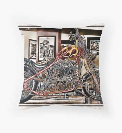 Mirrored Bike Throw Pillow