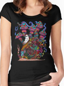 Snail Ride II Women's Fitted Scoop T-Shirt