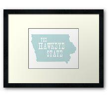 Iowa State Motto Slogan Framed Print