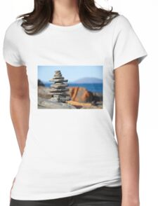 Rock stack Womens Fitted T-Shirt