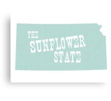 Kansas State Motto Slogan Canvas Print
