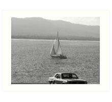 Sunday Cruise  Art Print