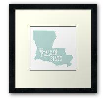 Louisiana State Motto Slogan Framed Print