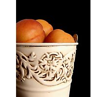 Apricots in Bucket Photographic Print