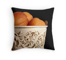 Apricots in Bucket Throw Pillow
