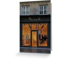 Shopfronts of Paris #24 Greeting Card