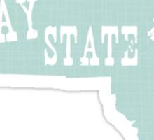 Massachusetts State Motto Slogan Sticker