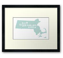 Massachusetts State Motto Slogan Framed Print
