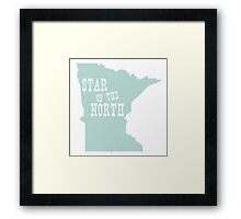 Minnesota State Motto Slogan Framed Print