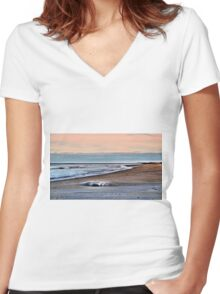 Surprise Beach Women's Fitted V-Neck T-Shirt