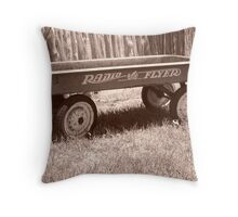 Radio Flyer Throw Pillow