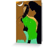 Woman and Man. Greeting Card