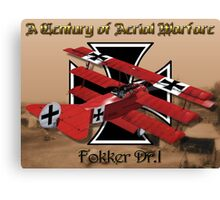 Fokker Dr.1 A Century of Aerial Warfare Canvas Print