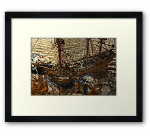 Eying The Wreckage Framed Print