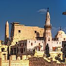 Abu Haggag Mosque And Luxor Temple by Nigel Fletcher-Jones