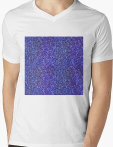 Blue Glitter Blue Mens V-Neck T-Shirt