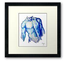 Blue Man Framed Print
