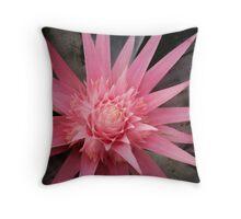 pink furry Throw Pillow