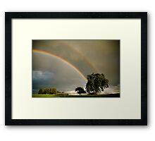 Double Rainbow! Framed Print