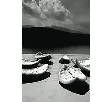 Orange Peel Boats Photographic Print