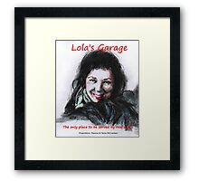 Lola's Garage Framed Print