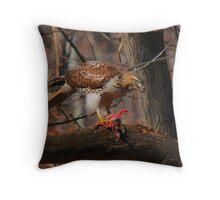 Red-Tailed Hawk with prey  Throw Pillow