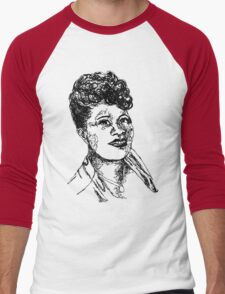 Icon: Ella Fitzgerald Men's Baseball ¾ T-Shirt