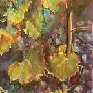 Grapes on the vine by christine purtle