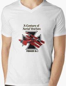 Fokker Dr.1 A Century of Aerial Warfare Mens V-Neck T-Shirt