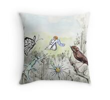 the Nightingale and the Rose 2 Throw Pillow