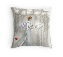 the Nightingale and the Rose 3 Throw Pillow