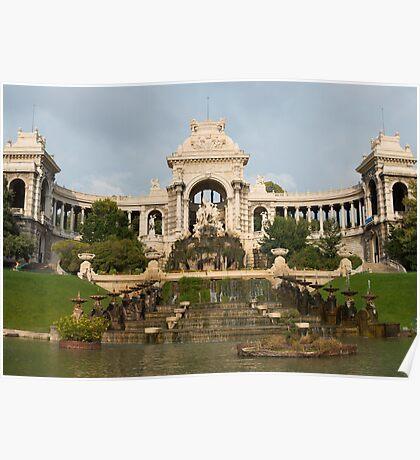 Palais Longchamp, Marseille, France (3x3 'panorama') Poster