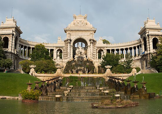 Palais Longchamp, Marseille, France (3x3 'panorama') by Roger Barnes